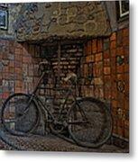Vintage Bicycle Metal Print by Susan Candelario