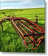 Vintage Farm Equipment II - Blue Ridge Metal Print by Dan Carmichael