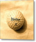 Vintage Golf Ball Metal Print by Anita Lewis