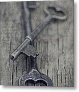 Vintage Keys Metal Print by Priska Wettstein