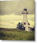 Vintage Lighthouse Pei Metal Print by Edward Fielding