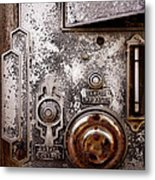 vintage-machinery photograph The Incubator Metal Print by Ann Powell