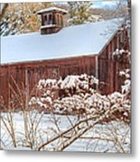 Vintage New England Barn Metal Print by Bill Wakeley