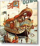 Vintage Nostalgic Poster - 8050 Metal Print by Wingsdomain Art and Photography