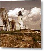 Vintage Pemaquid Point Lighthose Metal Print by Skip Willits