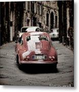 Vintage Porsche Metal Print by Karen Lewis