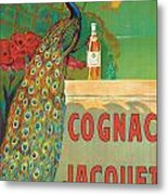 Vintage Poster Advertising Cognac Metal Print by Camille Bouchet