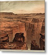 Vintage Print Of The Grand Canyon By William Henry Holmes - 1882 Metal Print by Blue Monocle