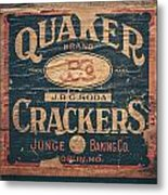 Vintage Quaker Crackers For The Kitchen Metal Print by Lisa Russo