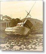 Vintage Shipwreck  Metal Print by Artist and Photographer Laura Wrede