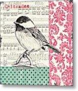Vintage Songbird 3 Metal Print by Debbie DeWitt