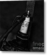 Vintage Spark Plug  6  Metal Print by Wilma  Birdwell