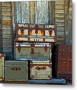 Vintage Trunks   Sold Metal Print by Marcia Lee Jones