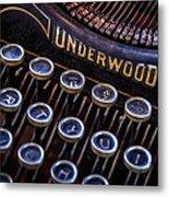 Vintage Typewriter 2 Metal Print by Scott Norris