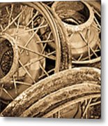 Vintage Wire Wheels Metal Print by Steve McKinzie