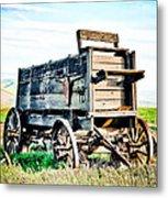Vintaged Covered Wagon Metal Print by Athena Mckinzie