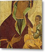 Virgin And Child Metal Print by Russian School