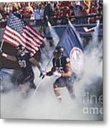 Virginia Cavaliers Football Team Entrance Metal Print by Jason O Watson