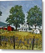 Virginia Highlands Farm Metal Print by Peter Muzyka