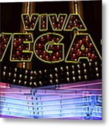 Viva Vegas Neon Metal Print by Bob Christopher