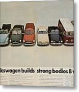 Volkswagen Body Facts Metal Print by Georgia Fowler