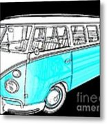 Volkswagen Turquoise Metal Print by Cheryl Young
