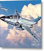 Voodoo In The Clouds - F-101b Voodoo Metal Print by Stu Shepherd