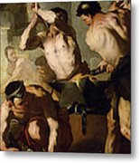 Vulcans Forge Metal Print by Luca Giordano