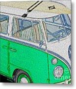 Vw Surf Bus Metal Print by Cheryl Young