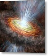 W33a Protostar Accretion Disc, Artwork Metal Print by Science Photo Library
