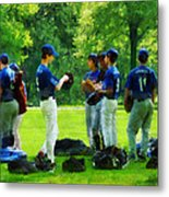 Waiting To Go To Bat Metal Print by Susan Savad
