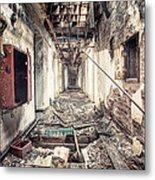 Walk Of Death - Abandoned Asylum Metal Print by Gary Heller