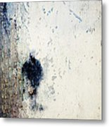 Walking In The Rain Metal Print by Carol Leigh