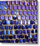 Wall Of Blue Metal Print by Anna Villarreal Garbis