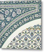Wall Tiles Of Sibyl D Abd-el Rahman Kyahya From Arab Art As Seen Through The Monuments Of Cairo  Metal Print by Emile Prisse d Avennes