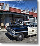 Wallys Service Station Metal Print by David Arment