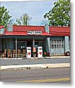 Wallys Service Station Mt. Airy Nc Metal Print by Bob Pardue