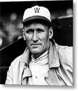 Walter P. Johnson With Coat On  Metal Print by Retro Images Archive
