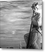 War Fighters - 149th Pa Infantry 1st Regiment Bucktail Brigade-a1 Near Mc Pherson Barn Gettysburg Metal Print by Michael Mazaika