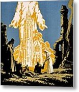 War Poster - Ww1 - Christians Support Red Cross Metal Print by Benjamin Yeager