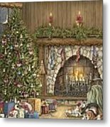 Warm Christmas Metal Print by Beverly Levi-Parker