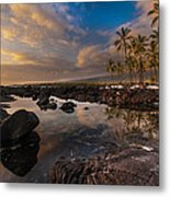Warm Reflected Place Of Refuge Skies Metal Print by Mike Reid