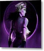 Warrior Goddess Of The Purple Moon Metal Print by Renee Reeser Zelnick