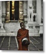 Wat Bencha Monk Metal Print by David Longstreath