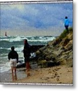 Watching The Storm Come In Metal Print by Rosemarie E Seppala