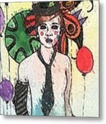 Water Clown Metal Print by Amy Sorrell