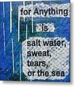Water Cure - 2 Metal Print by Gillian Pearce
