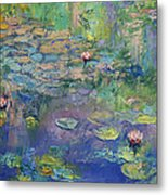 Water Garden Metal Print by Michael Creese