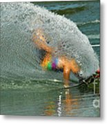 Water Skiing 5 Magic Of Water Metal Print by Bob Christopher