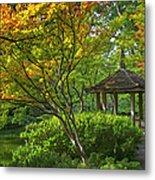 Watercolor Gardens Metal Print by Joan Carroll